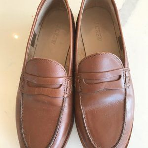 JCREW Ryan Penny Loafers size 8 burnished pecan